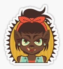 Werewolf Girl Sticker