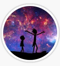 Rick and Morty Galaxy Sticker