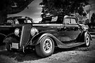 1934 Ford 3-window Coupe - B&W by PhotosByHealy