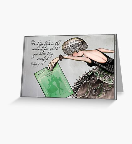 Her moment Greeting Card