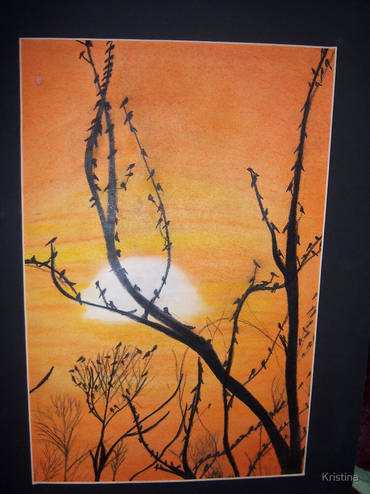 trees in sunset by Kristina