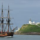 THE ENDEAVOUR REPLICA SAILING SHIP by Phil Woodman