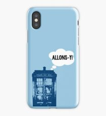 """""""ALLONS-Y!"""" - 10th Doctor iPhone Case"""