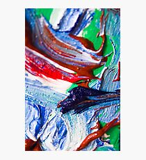 Swirls Of Paint Colors Photographic Print