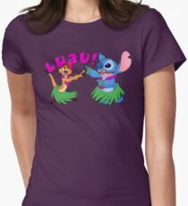 Luau! Womens Fitted T-Shirt
