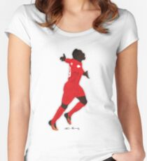 Sadio Mane Liverpool Football Club Women's Fitted Scoop T-Shirt