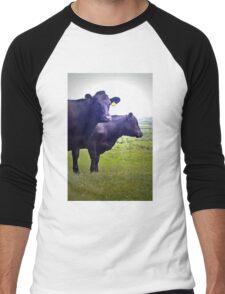 Cley Cows Too B Men's Baseball ¾ T-Shirt