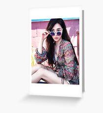 SNSD Tiffany Greeting Card