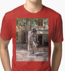Statue, Hans Christian Andersen and Jiminy Cricket. Tri-blend T-Shirt