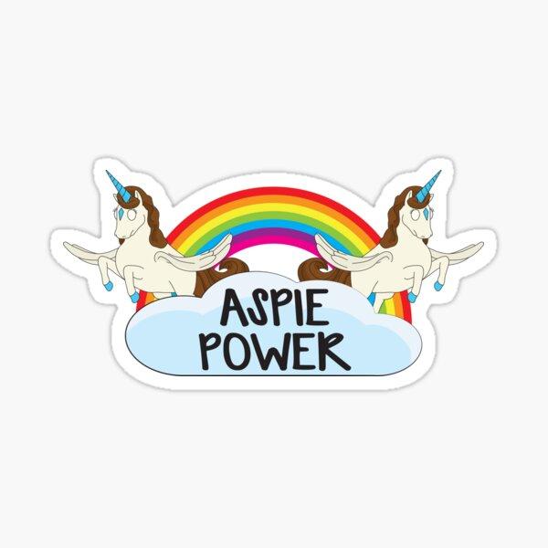 The Aspie Power Unicorns Sticker