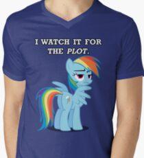 For the Plot (Rainbowdash) Mens V-Neck T-Shirt