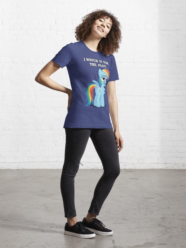 Alternate view of For the Plot (Rainbowdash) Essential T-Shirt