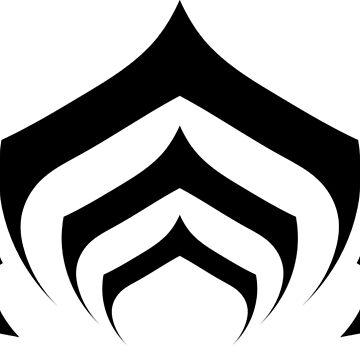 Warframe lotus symbol black by Eleshis