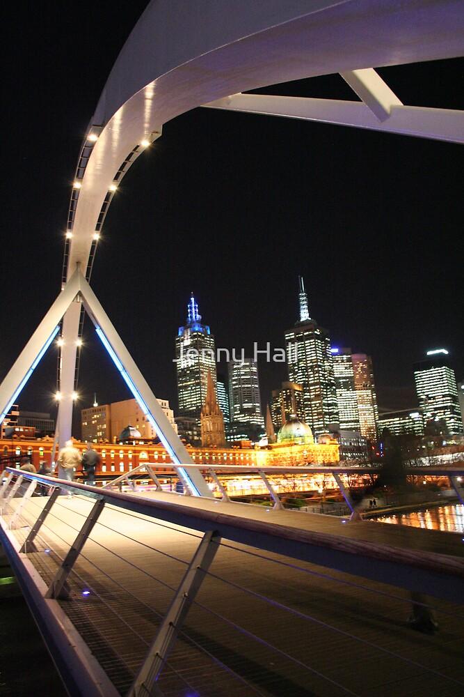 Night bridge by Jenny Hall