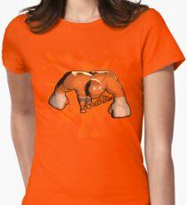 Brutes.io (Behemoth Run Orange) Women's Fitted T-Shirt