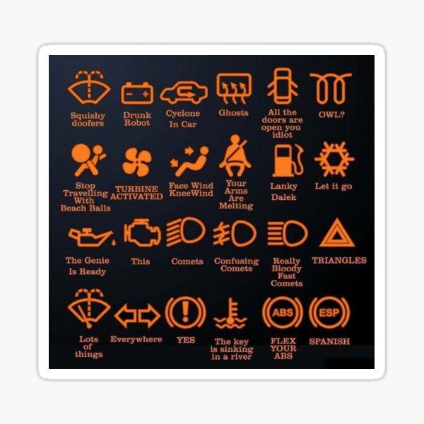 automotive sign language Sticker