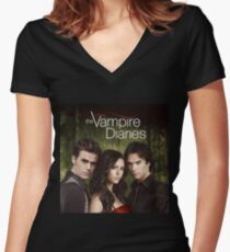 The Vampire Diaries Women's Fitted V-Neck T-Shirt