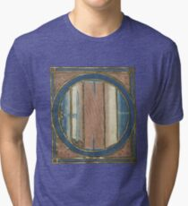 Medieval Map Of The World Tri-blend T-Shirt