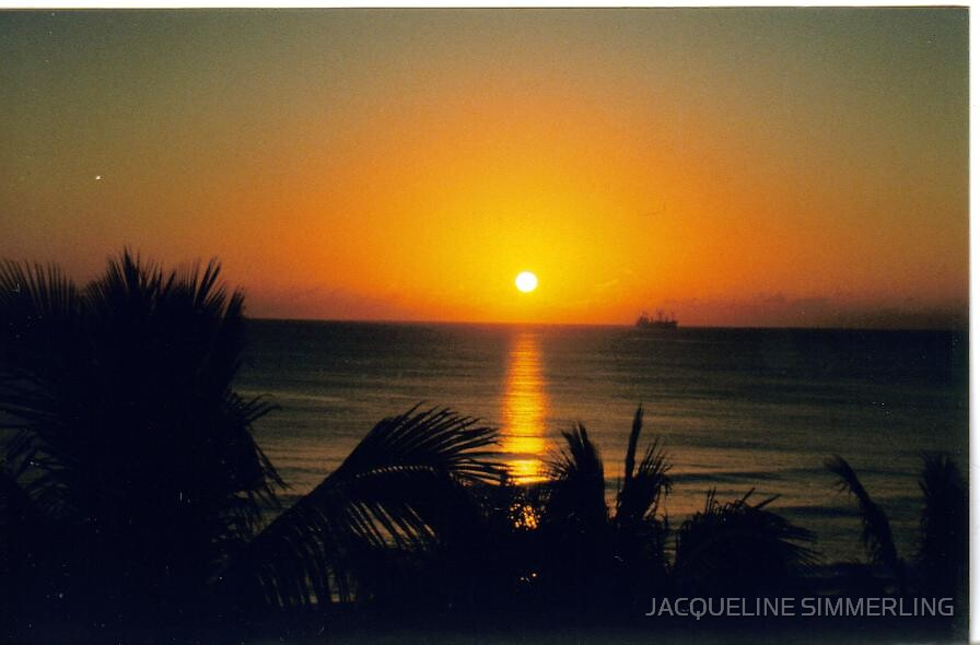 sunrise over miami by JACQUELINE SIMMERLING