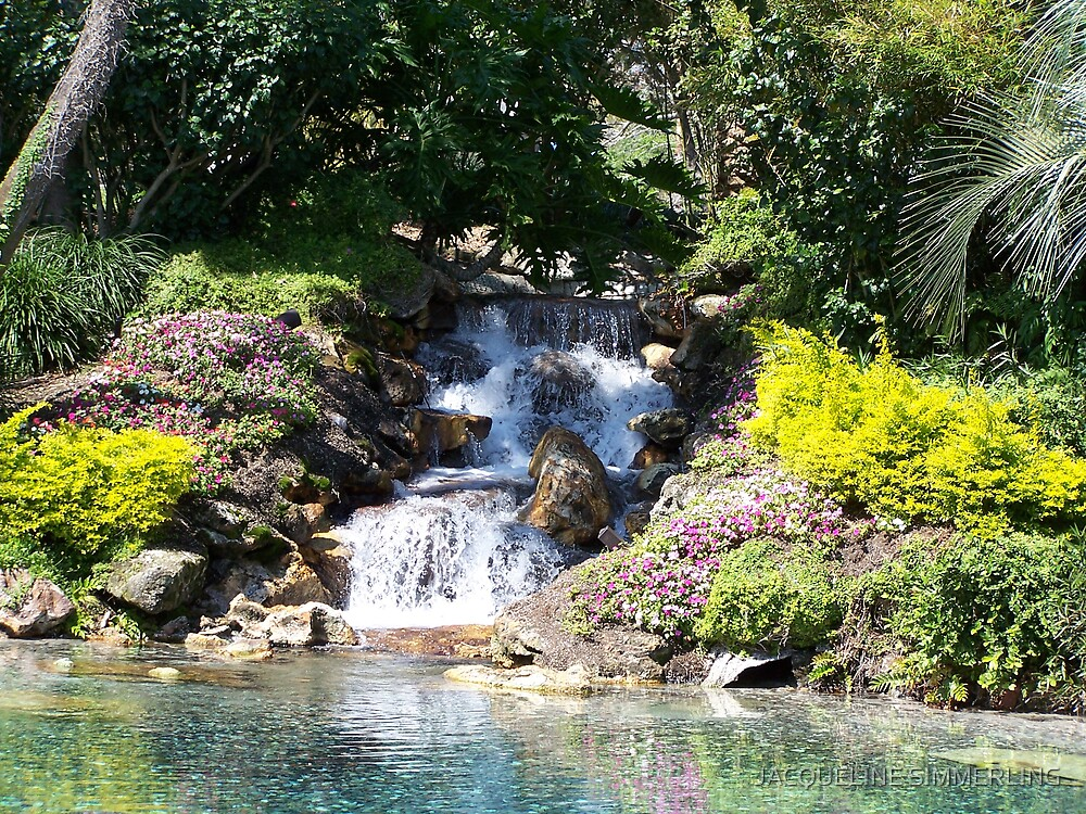 waterfall by JACQUELINE SIMMERLING