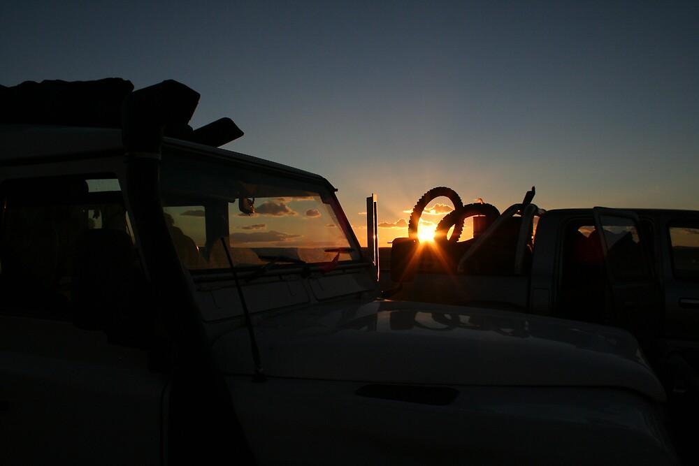 Sunset, Milperinka by Bronwyn  Murphy