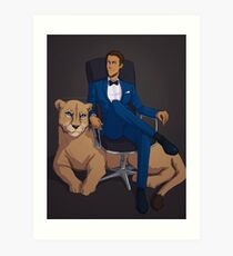 Snazzy Blue One Art Print