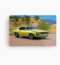 1969 Chevrolet Camaro 'Cowl Induction' Metal Print
