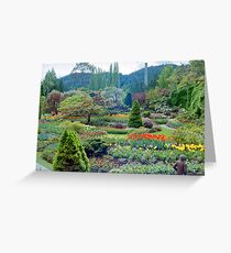 Butchart Gardens 10, 1984 Greeting Card