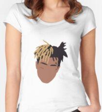 XXXTENTACION Minimal Design Women's Fitted Scoop T-Shirt