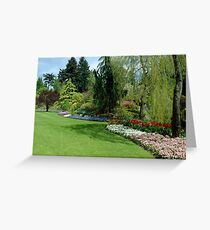 Butchart Gardens 3, 1984 Greeting Card