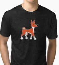 Basenji Snob red Tri-blend T-Shirt