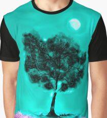 Pink Fantasy and Tree Aqua Mist Painting Graphic T-Shirt