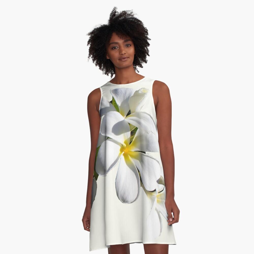 Frangipani A-Line Dress Front