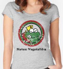 Hates: Vegetables (Battle Damage) Women's Fitted Scoop T-Shirt