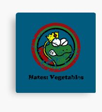 Hates: Vegetables (Battle Damage) Canvas Print