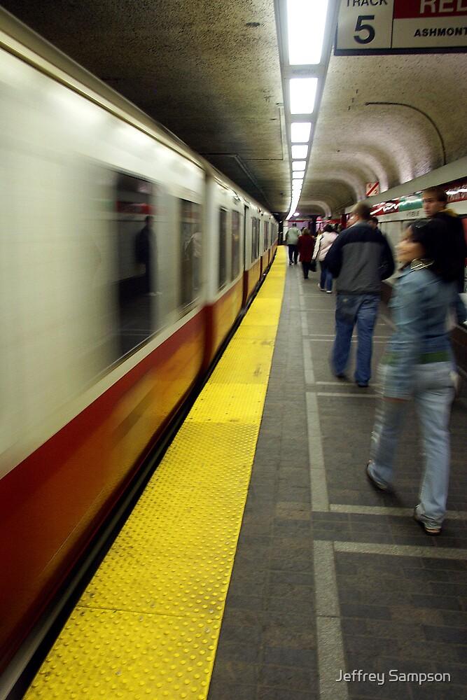 Red line track 5 Boston by Jeffrey Sampson