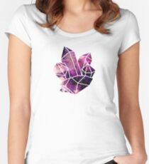 Galaxy Crystal Cluster Women's Fitted Scoop T-Shirt