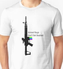 Armed Gays Don't Get Bashed - vertical AR Unisex T-Shirt