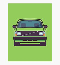 Volvo 240 (Lime) Photographic Print