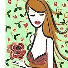 Girl with Rose by Anita Ristovski