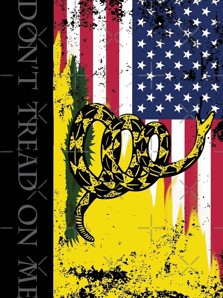 Bandera estadounidense de Gadsden usada de misterspotswood