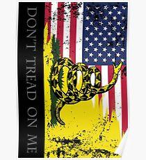 Amerikanische Gadsden-Flagge getragen Poster