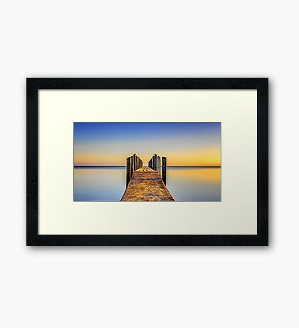 Quindalup Jetty Framed Print