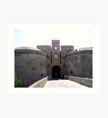 Castle of Rodos, Greece Art Print