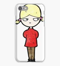 cartoon annoyed blond girl iPhone Case/Skin