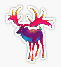 Psychedelic Irish Elk Sticker