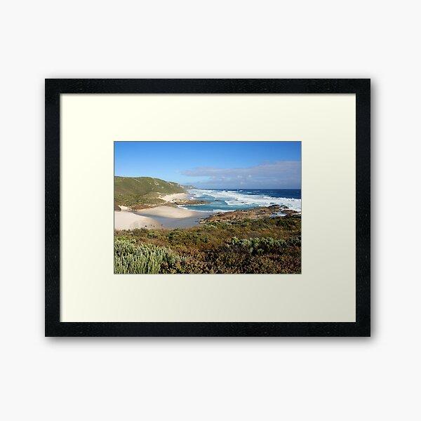 Lichter Strand W.A Westaustralien Gerahmter Kunstdruck