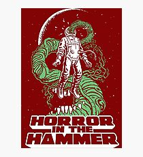 Horror In The Hammer Photographic Print