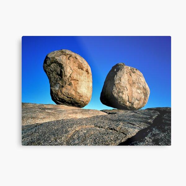 Perfect Balance, Devils Marbles, Central Australia Metal Print