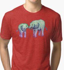 Baby-Elefant-Liebe Vintage T-Shirt